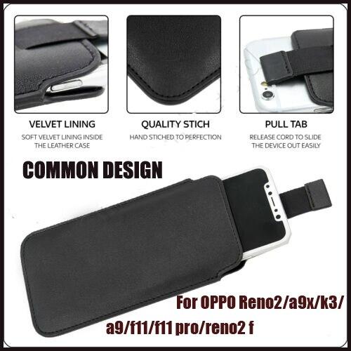 Casteel PU Pull Tab manga bolsa Funda de cuero para OPPO Reno 2 5G A9X K3 A9 F11 F11 PRO Reno2 F cubierta de la Caja