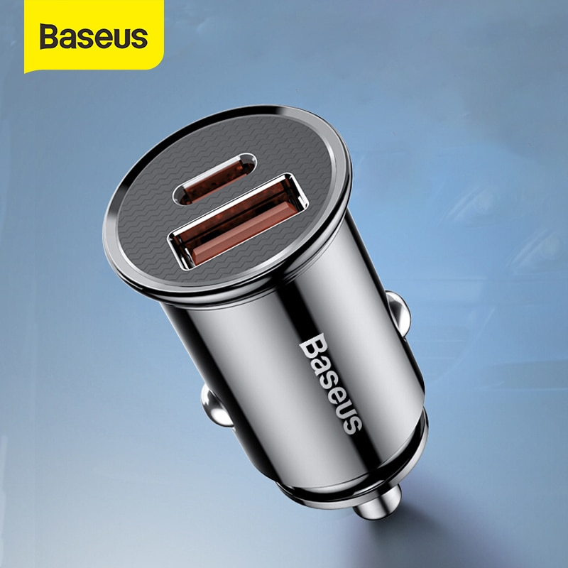 Baseus 30W Car Quick Charger 4.0 3.0 USB Charge For Iphone X XS Max SCP USB Type C PD 3.0 Fast Charg