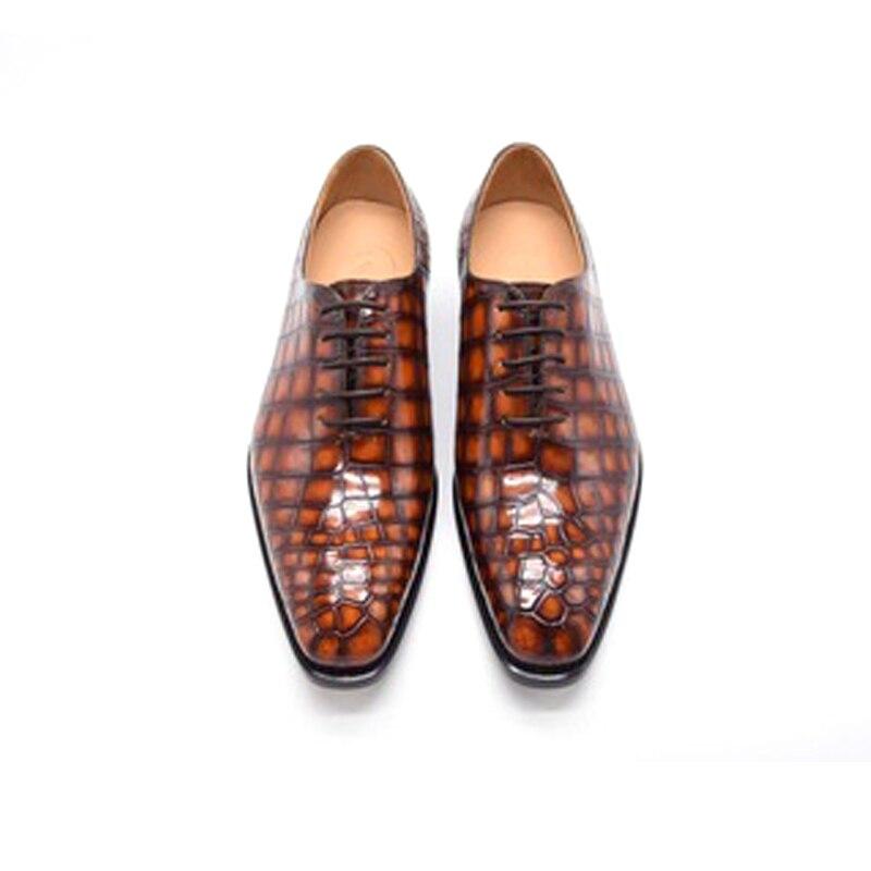 Chue-أحذية جلدية للرجال ، أحذية عمل ، أحذية رسمية برباط ، نعل جلدي ، جديد