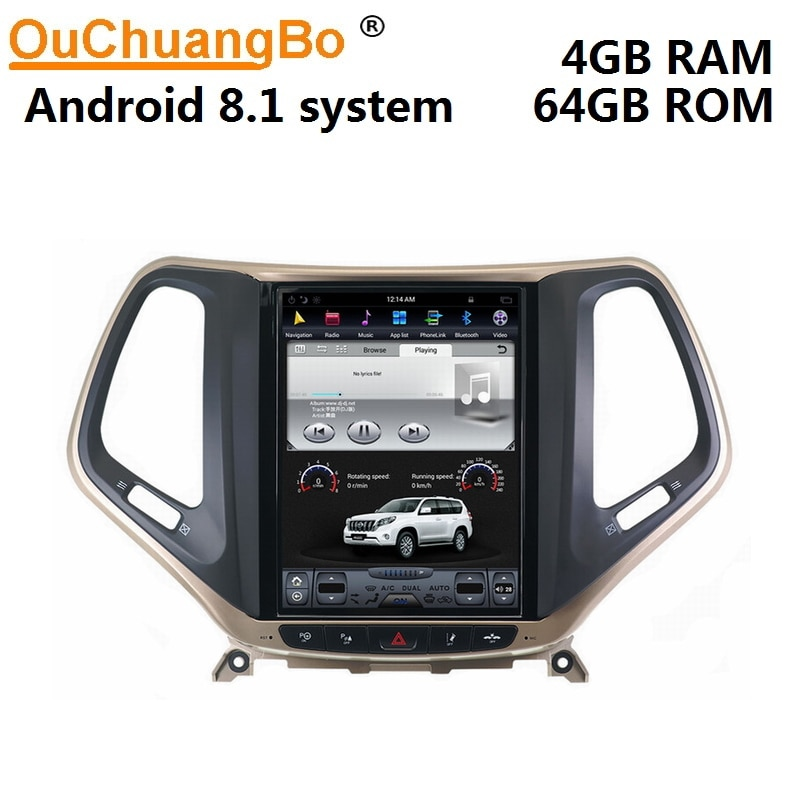 Ouchuangbo PX6 10,4 pulgadas tesla coche autoradi gps navi stereo para Jeep Cherokee 2015-2016 multimedia unidad de cabeza