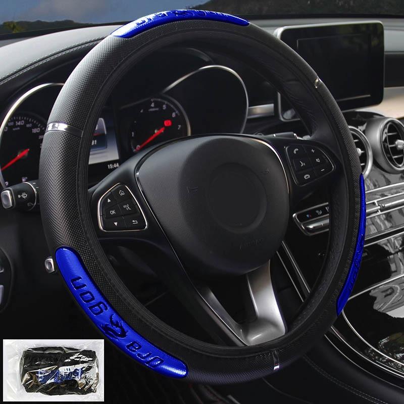 2021 Чехлы рулевого колеса автомобиля 100% новый отражающий эластичный чехол из искусственной кожи China Dragon Design Auto для руля