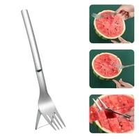 multi purpose 2 in 1 watermelon fork slicer creative watermelon fruit cutting fork pieces tableware fork