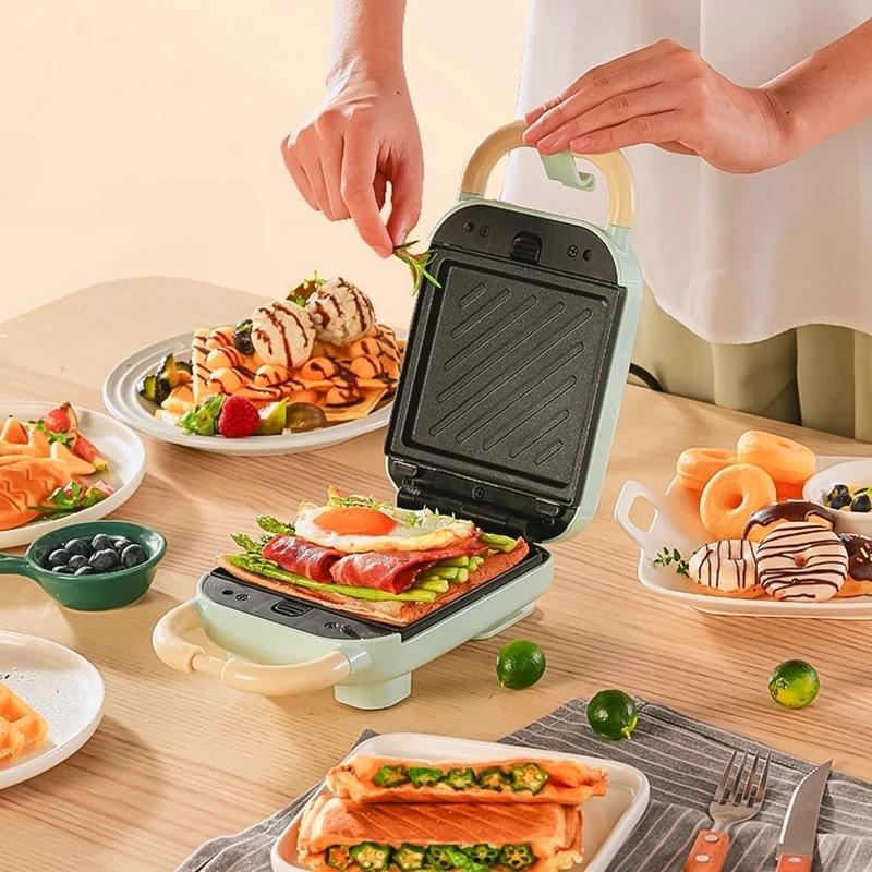 Sandwichera eléctrica para hacer gofres, tostadora para hornear, takoyaki, Pancake, Sandwichera, máquina...