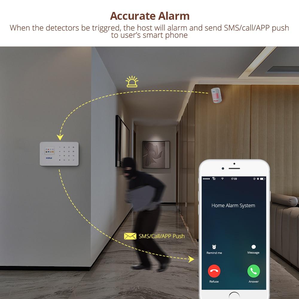 Wireless Smart Home GSM Security Alarm System SMS APP Control House Motion Detector Sensor Burglar Signal Device IP Camere enlarge