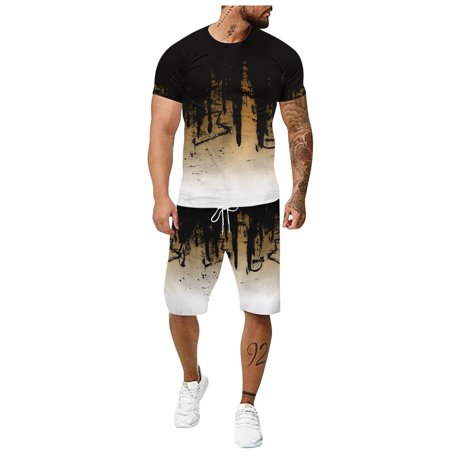 Conjuntos para Hombre de verano, traje deportivo para correr al aire libre,...