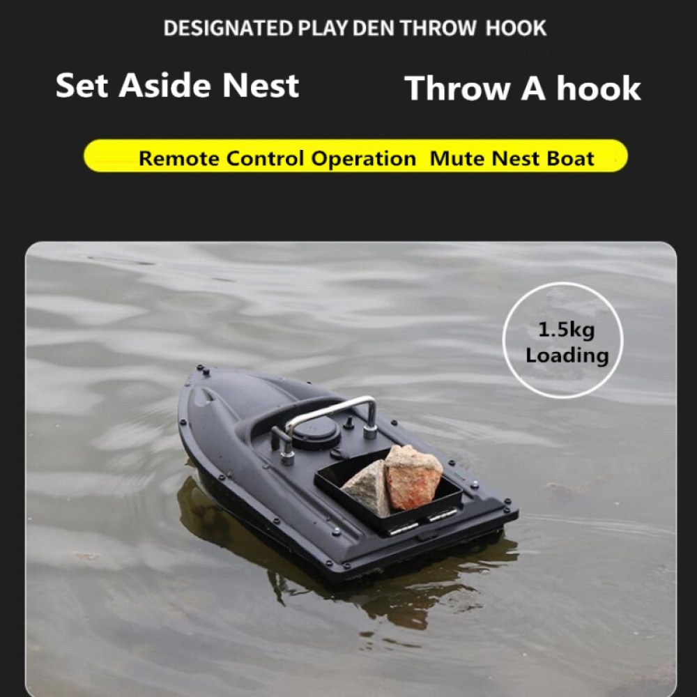 Fishing Finder Bait Boat 1.5KG 500M Fixed Speed Cruise Dual Night Light Lure RC Fishing Bait Thrower Nest Boat Fish Finder Ship enlarge
