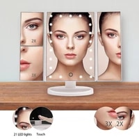 led touch screen makeup mirror 1x 2x 3x magnifying mirrors 22 lights tabletop makeup mirror beauty mirror pocket fold mirrors