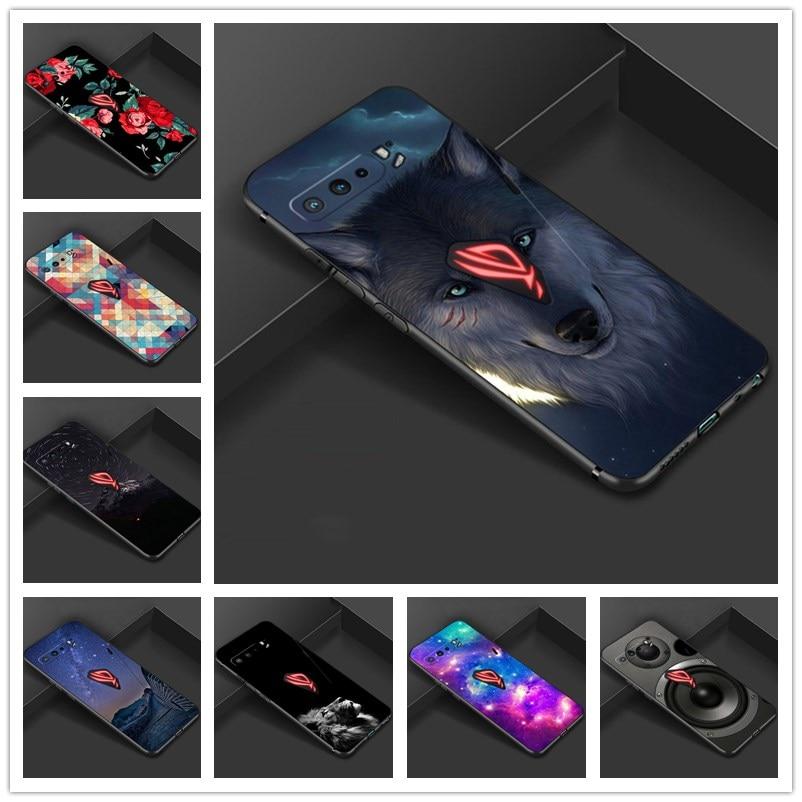 Para asus rog telefone 3 caso macio tpu silicone moda capa para asus rog telefone 3 strix zs661ks telefone capa traseira rog3 coque capas