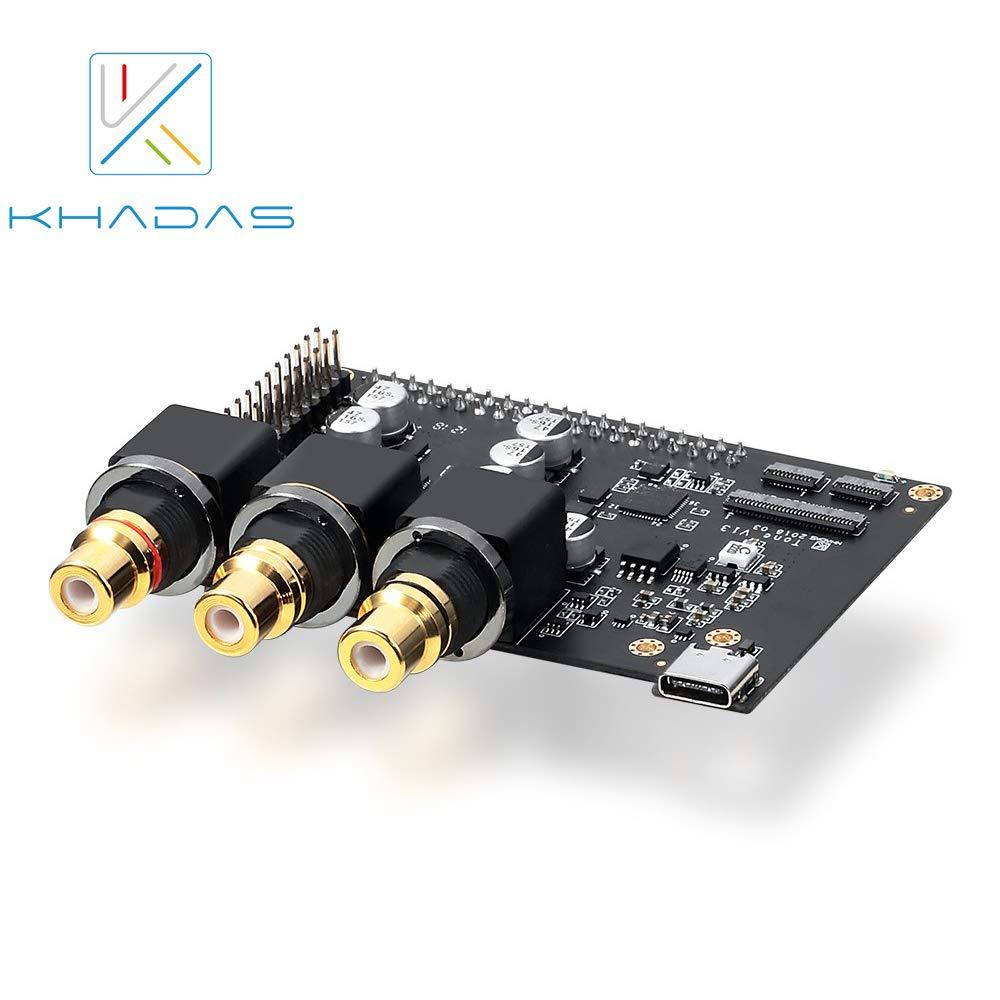 2019 new xmos xu208 usb digital interface support dsd512 pcm768k Материнская плата Khadas XMOS XU208 XMOS ES9038Q2M, 32 бит, Android/Linux/Windows/ Mac/Raspberry pi 3 +/4