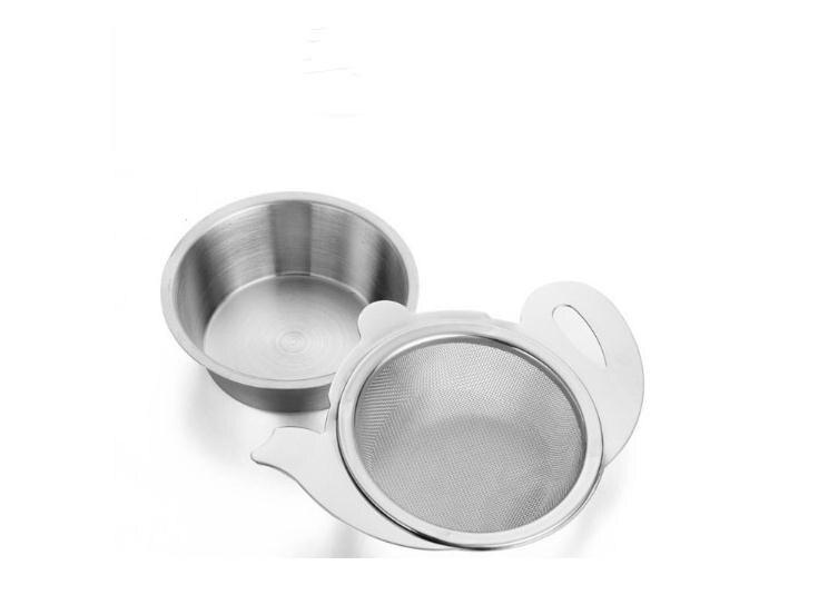 مصفاة شاي من الفولاذ المقاوم للصدأ بمقبض ، حامل شبكي لإبريق الشاي ، أكواب ، أدوات تخمير الشاي السائبة SN2702