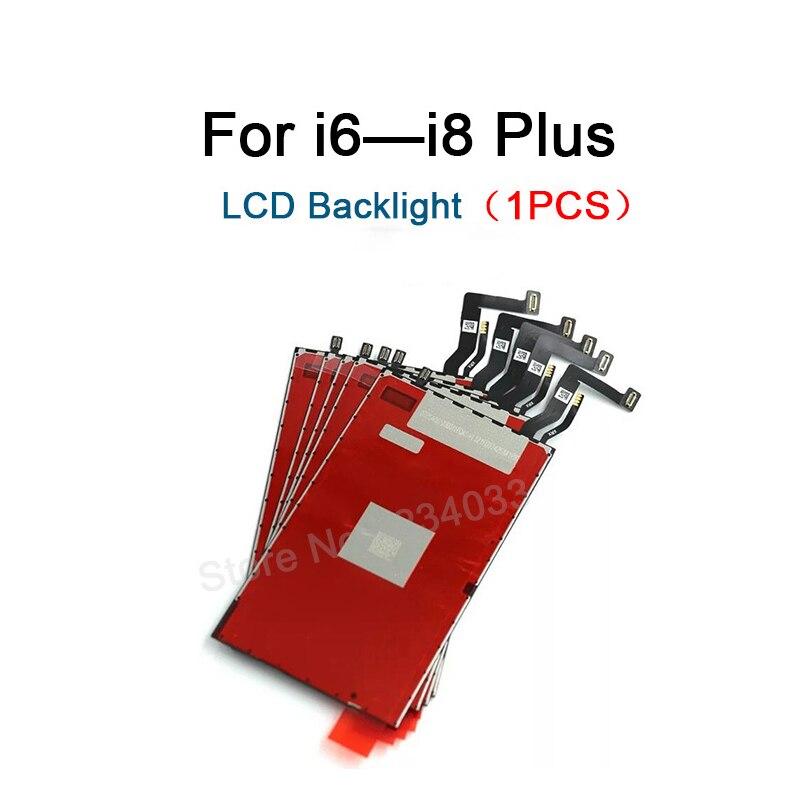 1 Uds pantalla LCD digitalizador retroiluminación película con Cable flexible para iPhone 5 y 5s 5c 6 6s 7 7plus 8 8 plus reemplazo