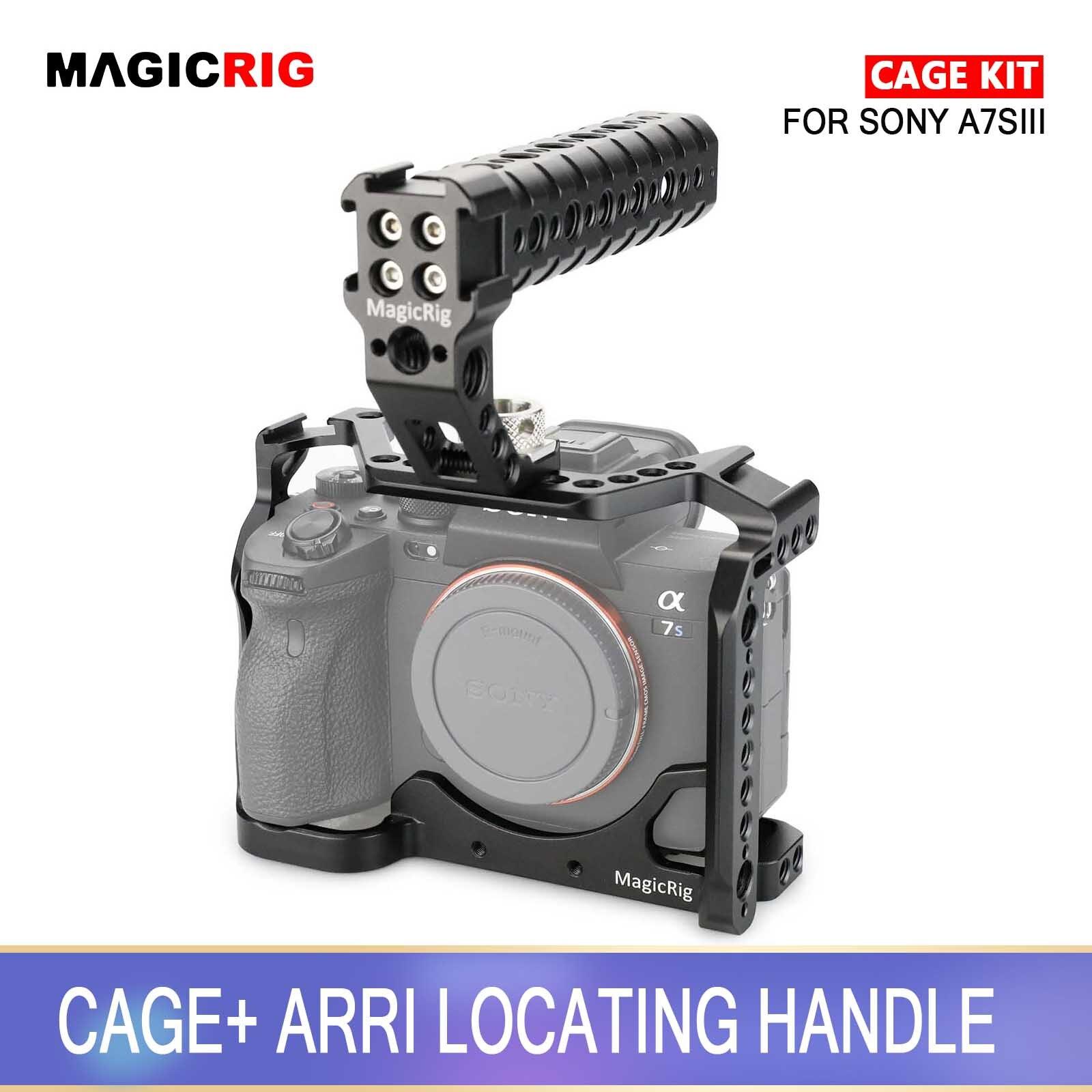 Gaiola com Arri Montagem de Sapato Frio para Sony Magicrig Dslr Câmera Localizar Alça Superior & A7siii – A7s3 Alpha 7siii