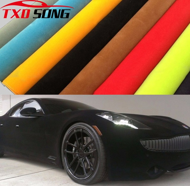 10/20/30/40/50X135CM Top Velvet Suede Fabric Material Car Wrap Sticker Self Adhesive Film For Auto Interior/Exterior Car Styling