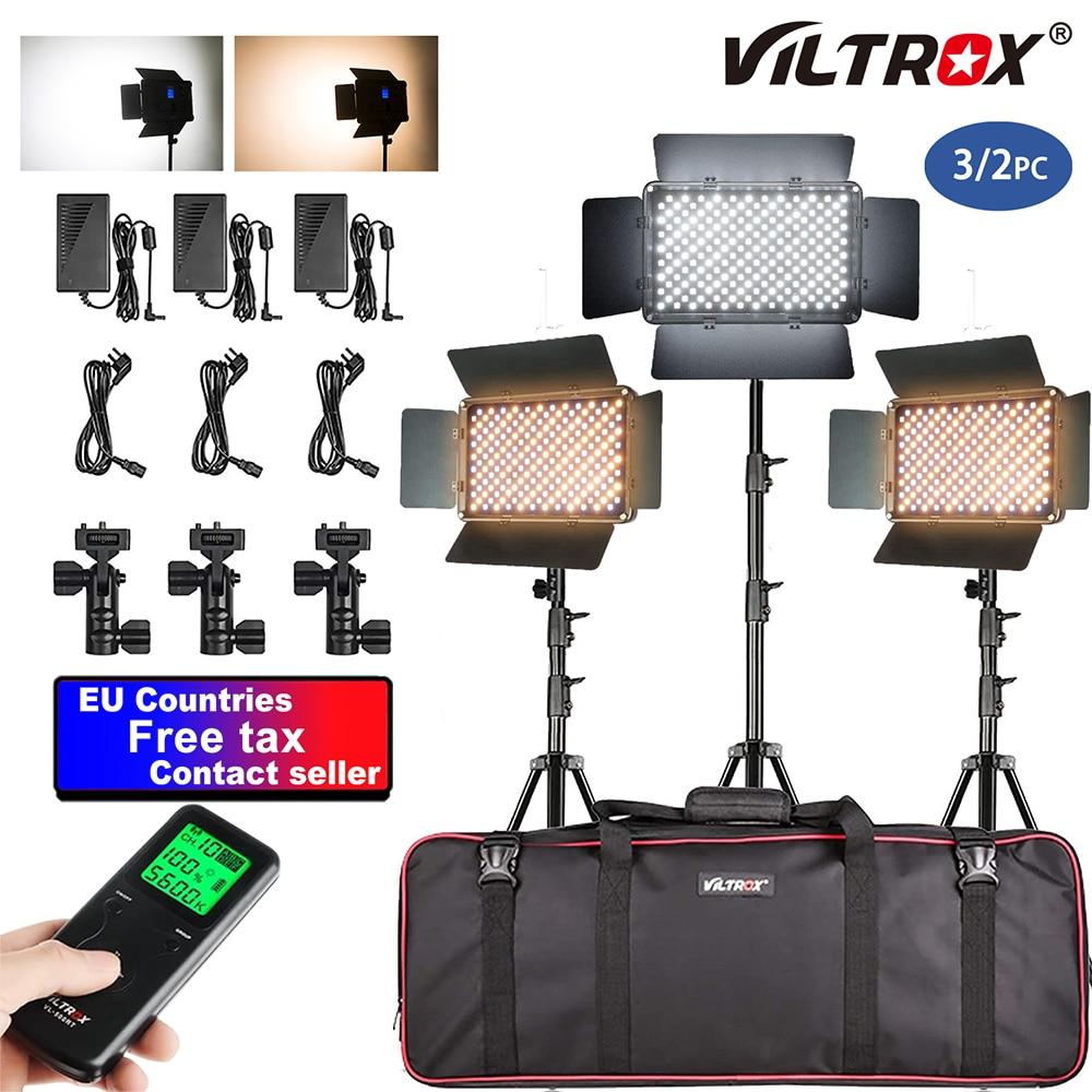 VILTROX VL-S192T LED الفيديو الضوئي عدة لوحة التصوير استوديو ضوء الكاميرا CRI 95 192 قطعة + ضوء موقف للكاميرا استوديو DSLR