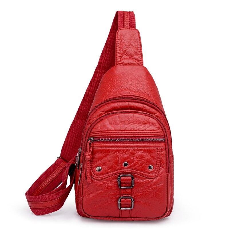 Женские Кожаные Рюкзаки Mochilas, маленькие женские рюкзаки, винтажный дорожный рюкзак, одноцветные рюкзаки, Женская нагрудная сумка, Sac A Dos