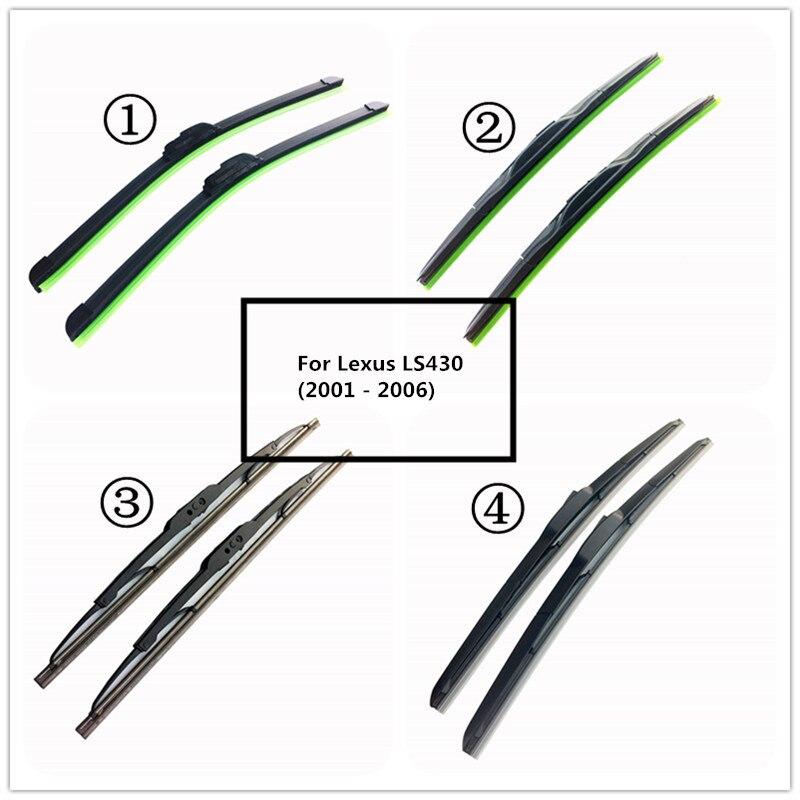 """LUYA Quatro tipos de Lâmina de Limpador Do Carro limpador de parabrisa Para Lexus LS430 (2001-2006) tamanho 24 """"& 16"""""""