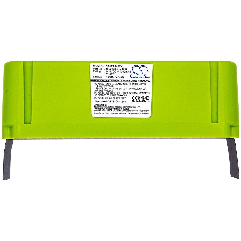 Cameron Sino 4000mAh Batterie Für iRobot Roomba 614/615/640/652/665/670/671/675/677/680/681/685/690/691/695/696.etc