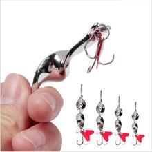 1 pièces/hiver pêche en mer bionique faux appât dur vib métal paillettes 7g-28g artificiel Wobbler longue tir basse rotation sequin leurre