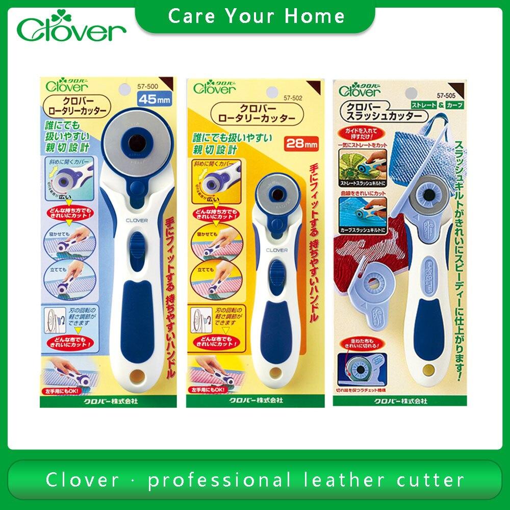 Cortador de cuero de trébol, herramientas de mano, cortador de papel, artesanía de cuero costura, accesorios para cuero, cuchillo Profesional