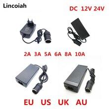 Ca 100V-240V 100V 220V à cc 12 V voiture allume-cigare ca/cc convertisseur de courant adaptateur onduleur transformateur dalimentation 12 volts