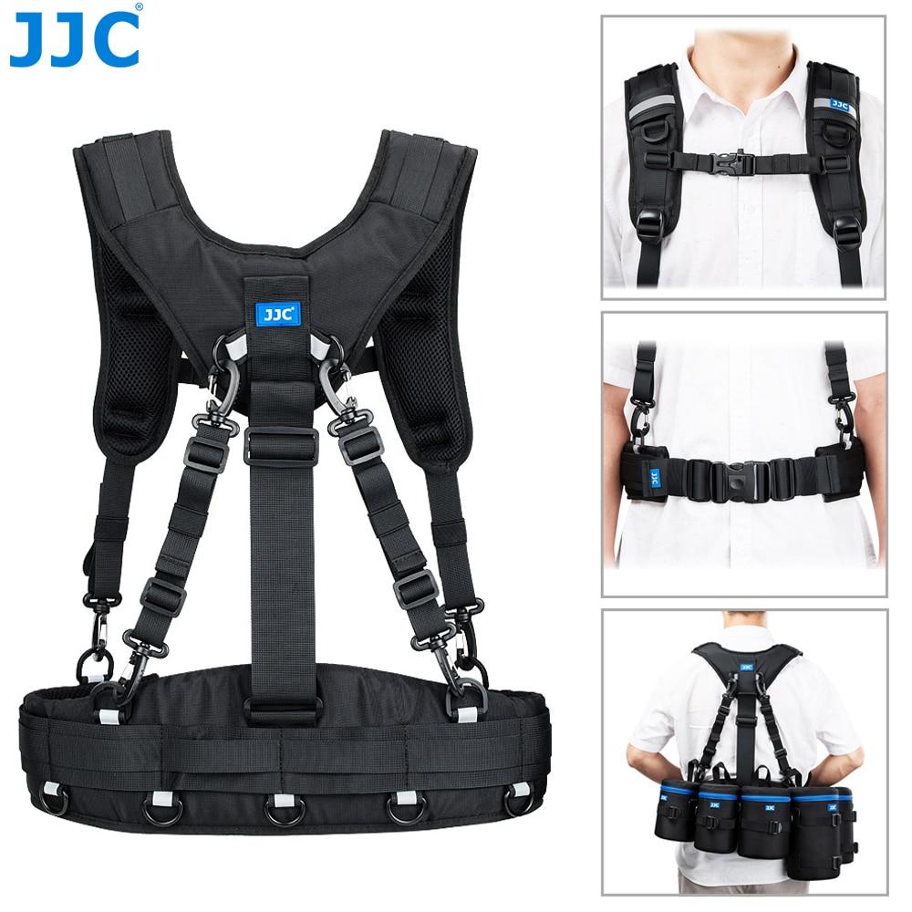 JJC Camera Shoulder Strap Waist Belt Harness System for Canon Nikon Sony Fujifilm SLR DSLR Lens Case Pouch Photographer Harness