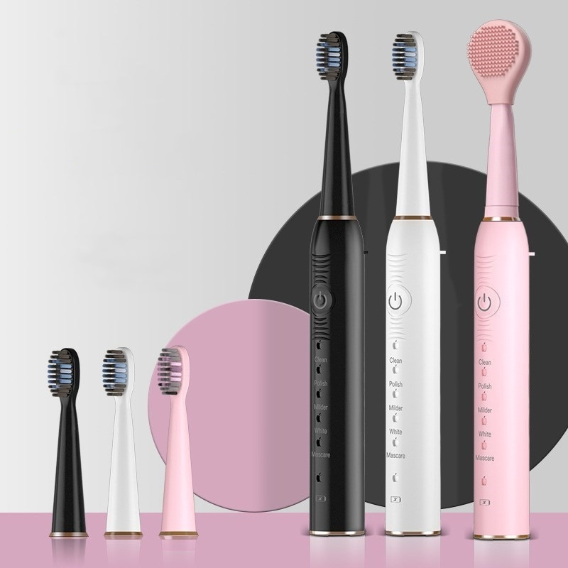Sonic Electric Toothbrush Best 5 Modes  Adult Waterproof USB Rechargeable with 4 Brush Head Washable  Whitening Teeth Brush