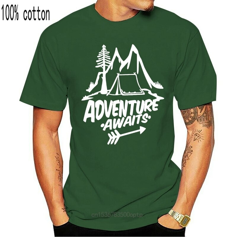 New Tourist Hike Mountain Camping Travel Nature Man Boy T-shirt