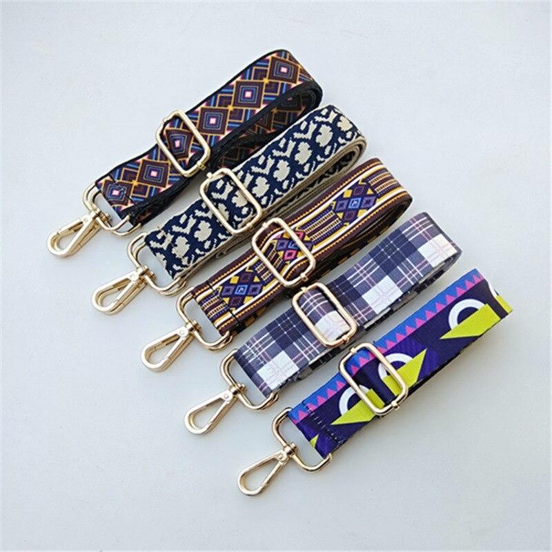 Flower Bag Accessories Strap Womens Gold Silver Belt Handles Ornament Handbags Shoulder  Cross Body Messenger Ethnic