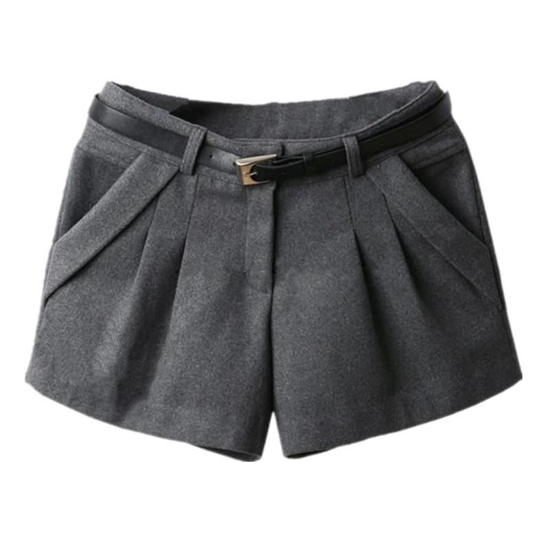 Autumn Winter Shorts Slim Woolen Shorts Mid Waist Women Shorts New Fashion For Women Shorts Free Shipping