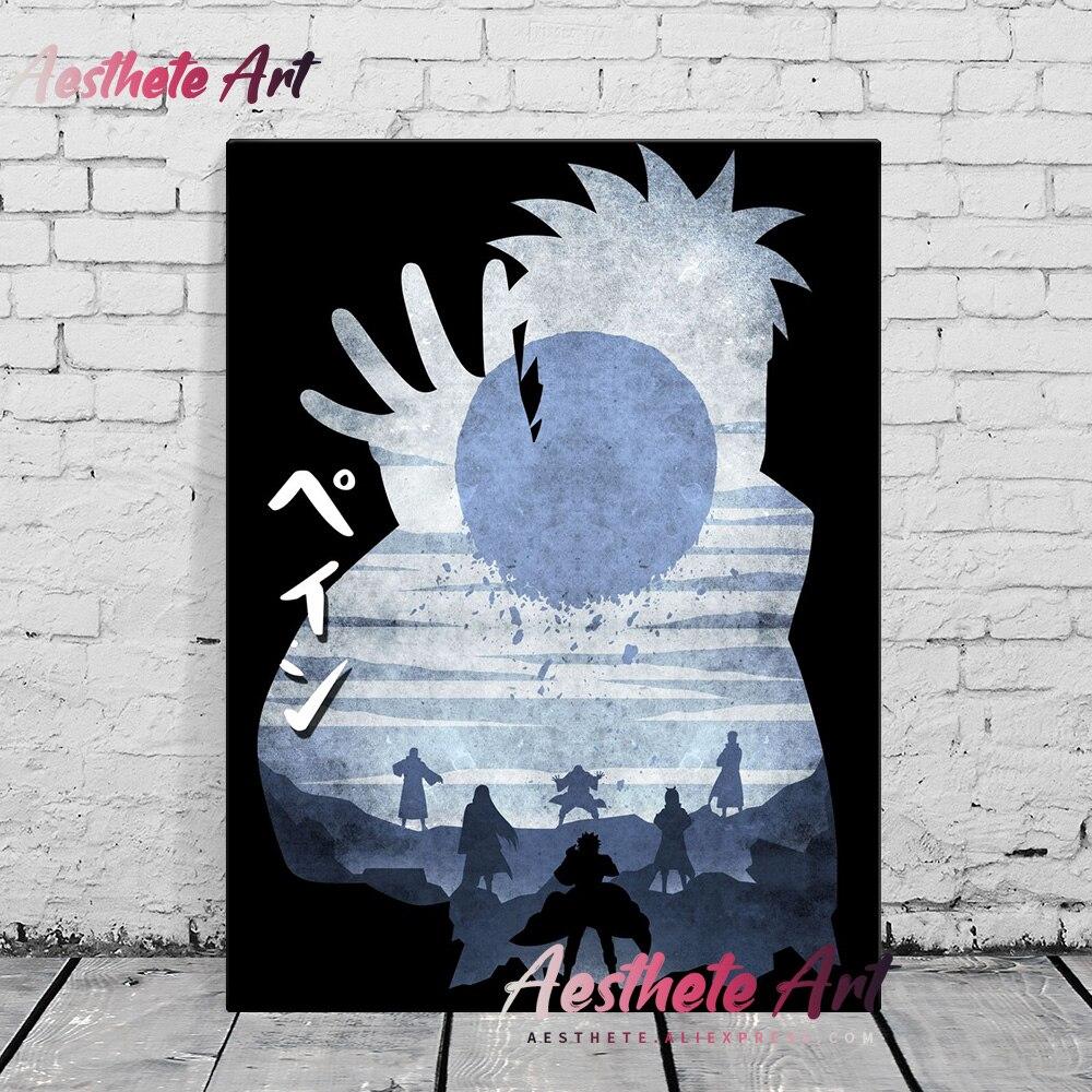 Dor chibaku tensei anime casa decoração da lona posters impressão decoração mangaart quadros de parede sala estar pintura