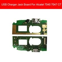 충전기 usb 잭 보드 alcatel one touch pop c7 dual 7040 7041 ot7040 ot7041 충전 포트 모듈 usb 커넥터 포트 보드