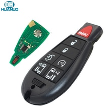 7/6 + 1 botões remoto chave fob 434/433 mhz id46 chip pcf7941 para chrysler dodge
