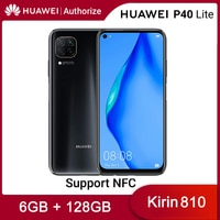 Huawei P40 Lite 6GB 128GB Mobile Phone Kirin 810 NFC Cellphone Quad 48MP Camera 40W Super Charge 4200mAh Android 10