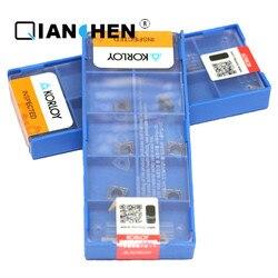 Original Genuine Coréia Korloy CCMT060202-HMP PC9030 CCMT060204-HMP NC3120 (10 pçs/lote) Alta Qualidade Inserção ferramenta de torneamento Interno