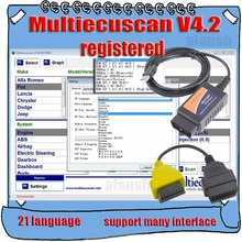 2020 vendita calda MultiEcuScan V4.2 registrazione infinita Multi Ecu Scan per Fiat può funzionare con ELM327