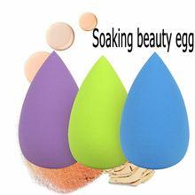 Trempage éponge beauté oeuf professionnel bouffée fond de teint correcteur fond de teint crème facile à utiliser eau douce éponge outil de maquillage