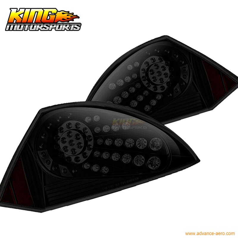 Ajuste para 2000-2005 Mitsubishi Eclipse LED luces traseras de freno lámparas negro humo USA doméstico envío gratis Venta caliente