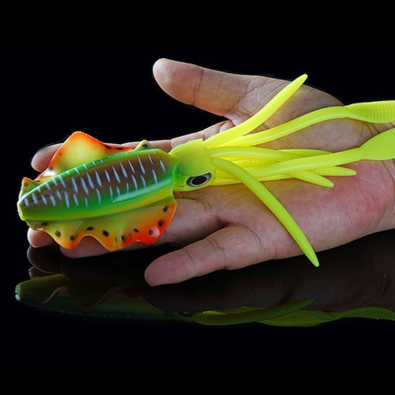 SUNMILE Fishing Lure Bionic Squid Lure with Uv/Luminous Lure Soft Lure Bionic Lure for the Sea 20cm/48G enlarge