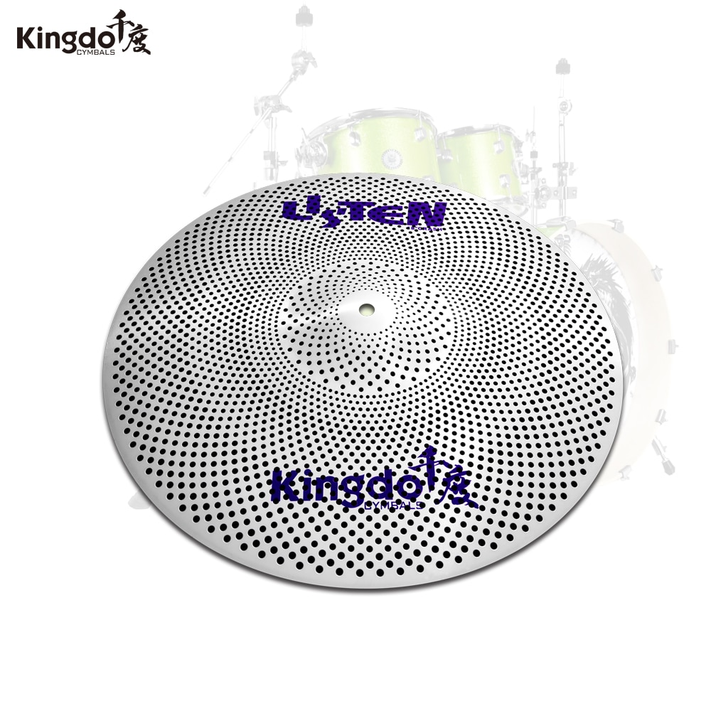 Kingdo high grade new low volume cymbal slience cymbal for drum set enlarge
