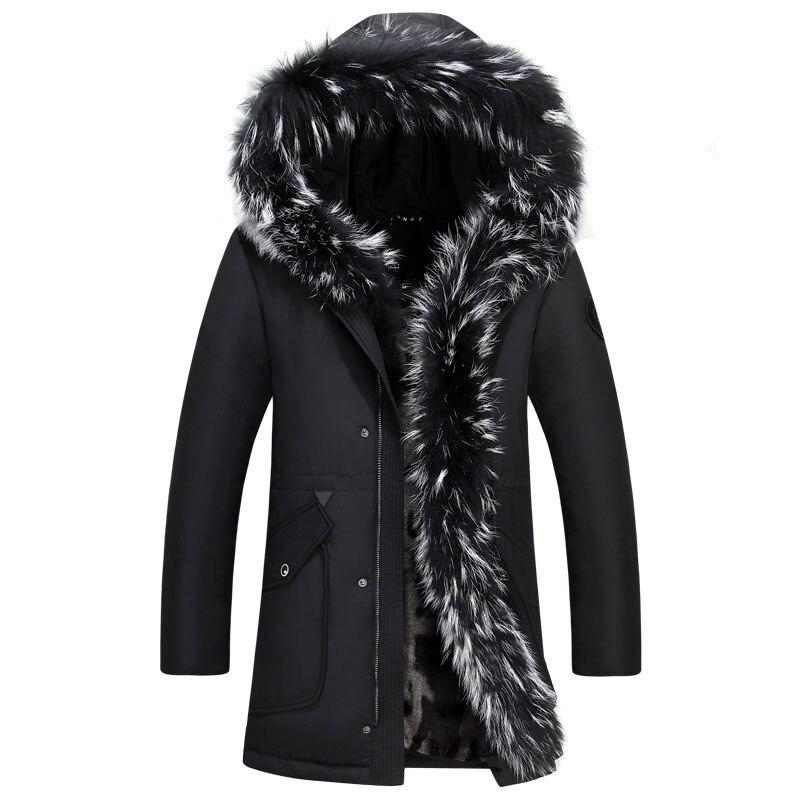 Abrigo Parka verde de invierno para hombre de chaqueta de plumas de...