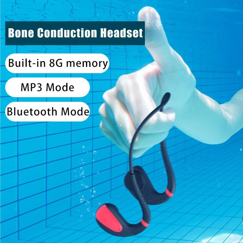 Fones de Ouvido Indolor e à Prova Apto para Xiaomi sem Fio Bluetooth 5.0 ao ar Livre Condução Óssea Natação Dpainless Água Huawei