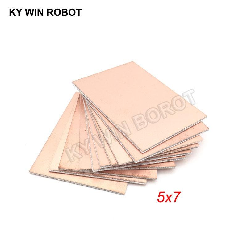 10 шт. FR4 PCB двухсторонняя медная плакированная пластина DIY PCB Kit ламинатная печатная плата 5x7 см