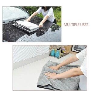 Image 4 - Полотенце из микрофибры, тряпочка для мытья автомобиля, уход за дверью и окном, плотная, сильное впитывание воды, аксессуары для автомобиля, дома и автомобиля
