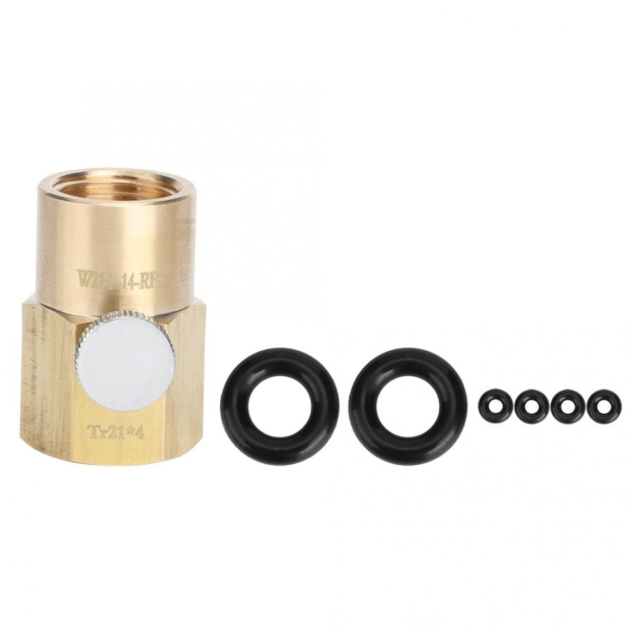 Tr21x4 a W21.8-14-RH CO2 adaptador agua de Soda paja plegable CO2 cilindro adaptador conector de válvula de llenado