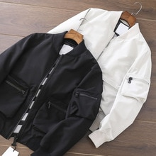 2021 Men's spring and autumn new casual sports all-match baseball stand-up collar jacket Windbreaker