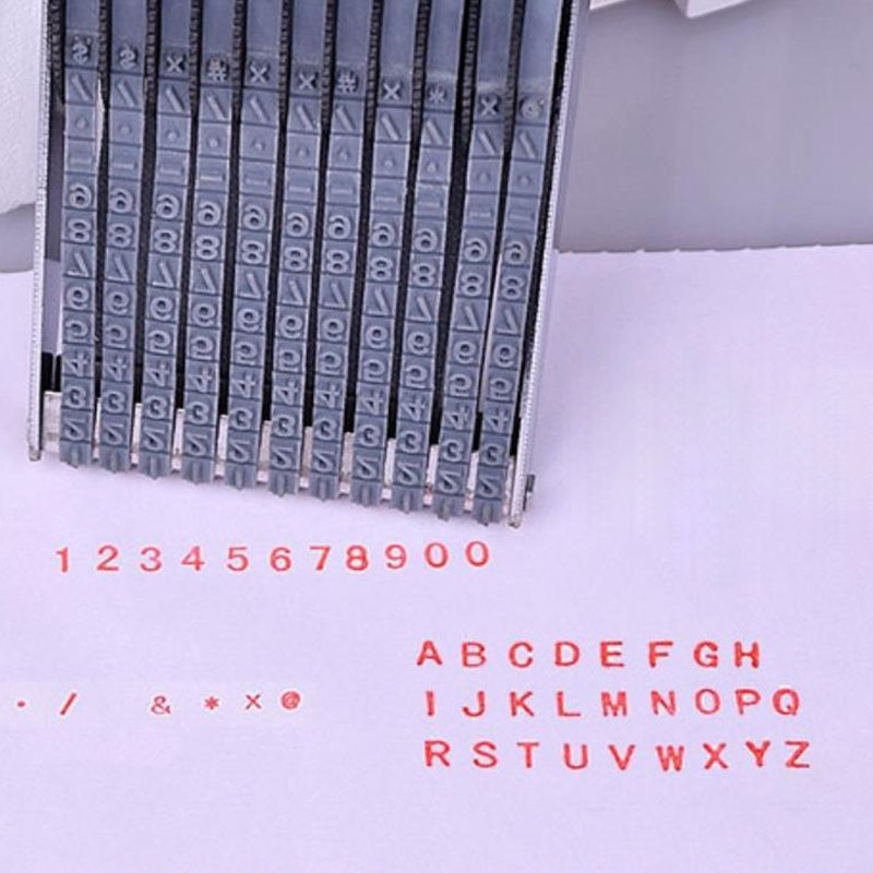 Multipurpose Rolling Stamp 8 Digits Letter Number Emboss DIY Stamper AC889