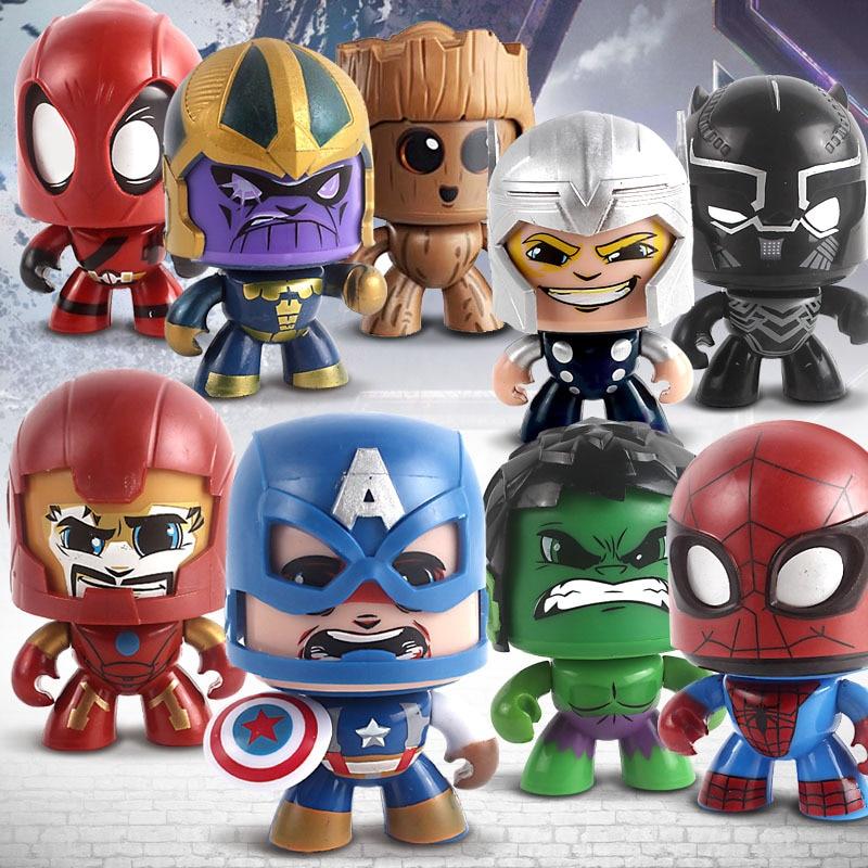 11cm os vingadores marvel mágico hulk deadpool spiderman rosto pode mudar boneca modelo china máscara única-mudando brinquedos
