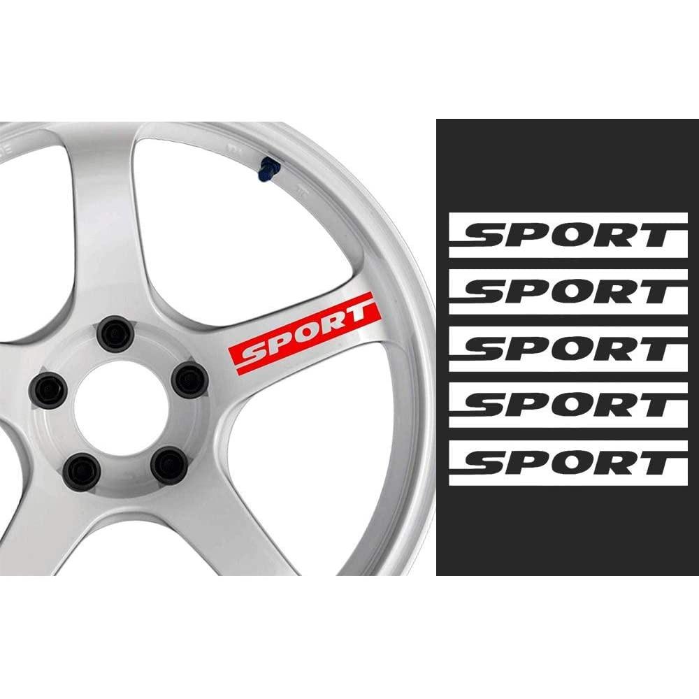 Esporte decalque adesivo rodas jantes corrida esporte carro adesivo emblema logotipo 5 peças