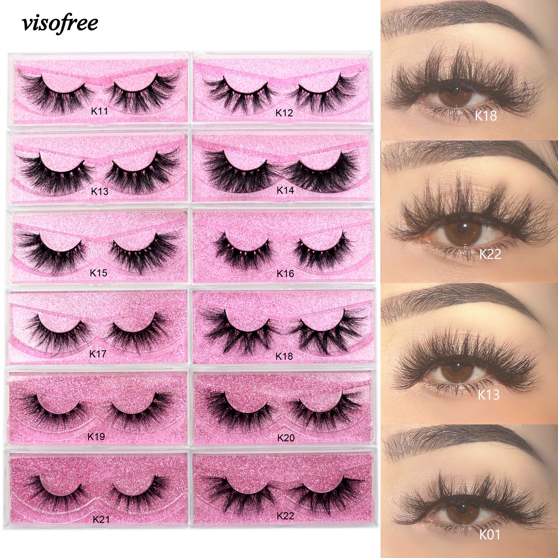 aliexpress.com - Visofree 5D Mink Eyelashes Long Lasting Mink Lashes Natural Dramatic Volume Eyelashes Extension Thick Long 3D False Eyelashes