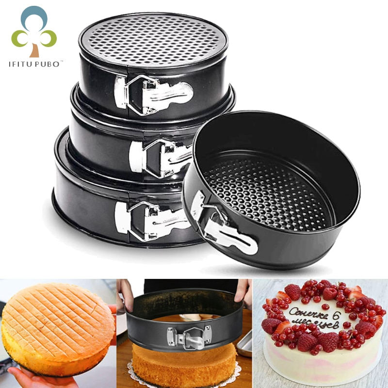 Carbon Steel Non-stick Cake Baking Pan Loose Base Round Heart Baking Mold Bakeware Cake Baking Moulds Kitchen Tools GYH